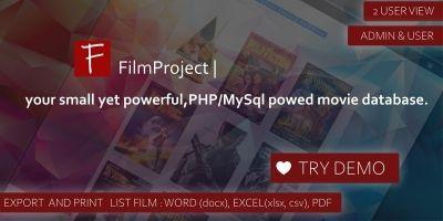 FilmPrject Script - Personal Movie Database Script