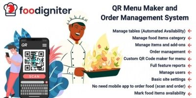 Foodigniter - QR Menu Maker And Order Management