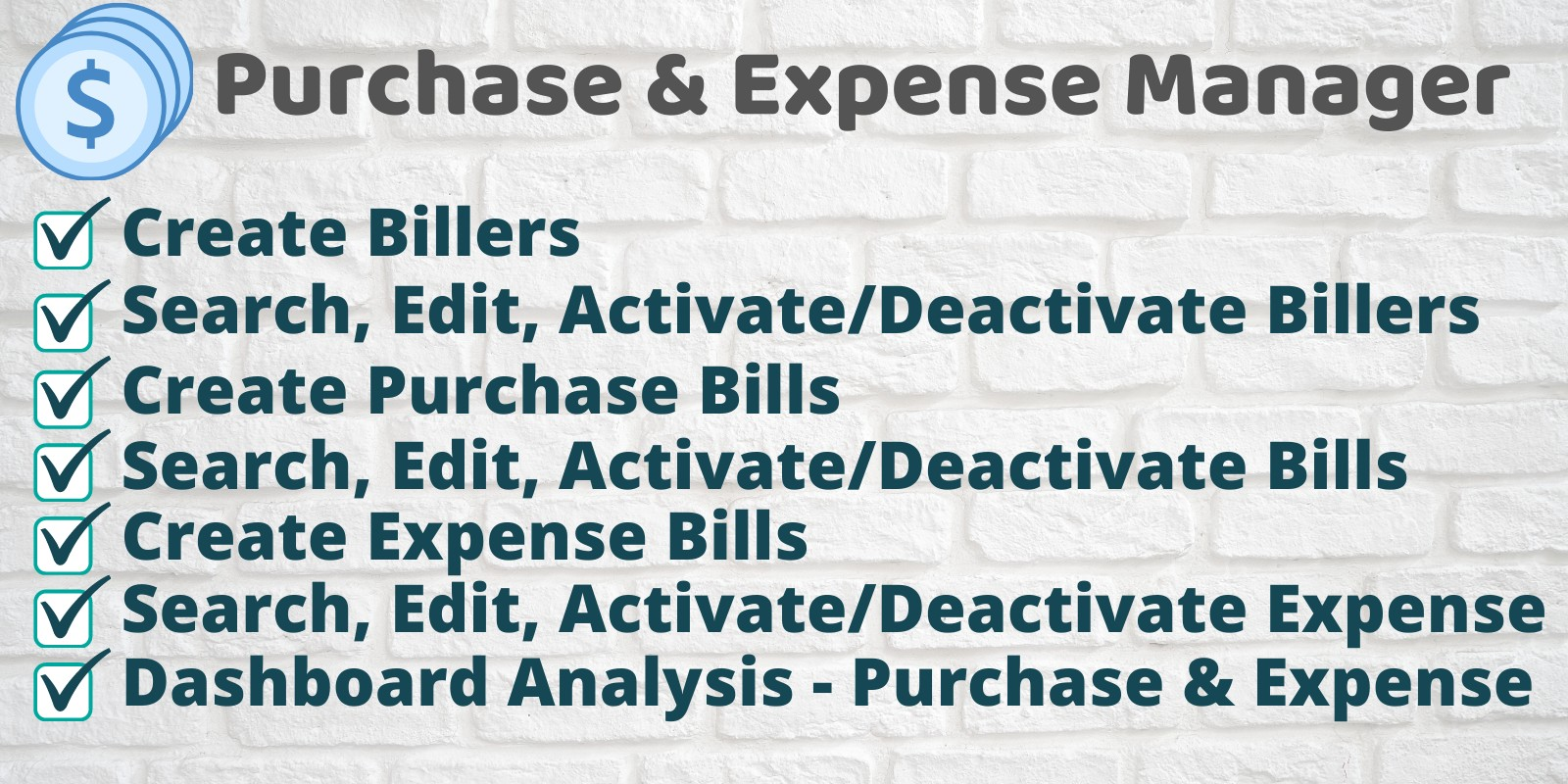 Purchase and Expense Manager via Admin Panel
