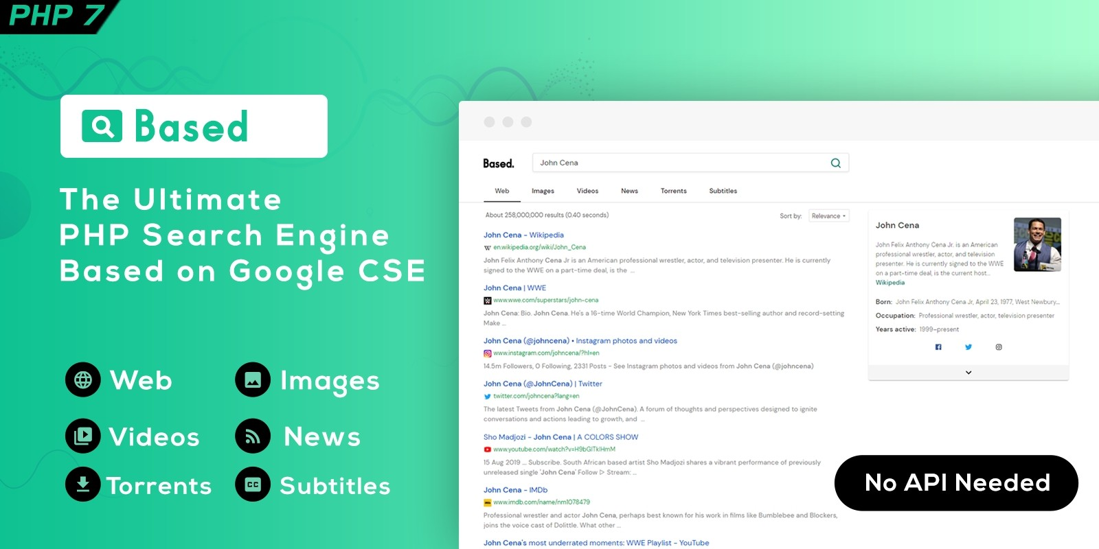 Based - Google CSE PHP Search Engine Script