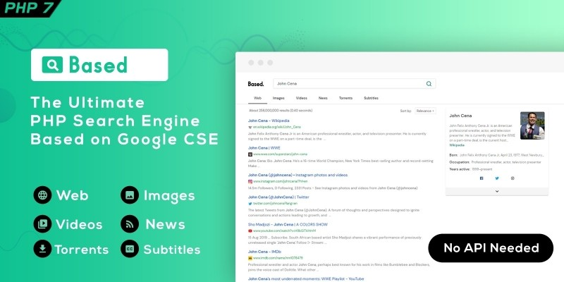 Based - Google CSE PHP Search Engine Script