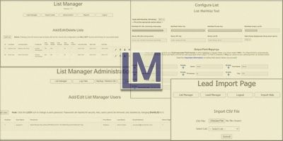 List Manager PHP Script