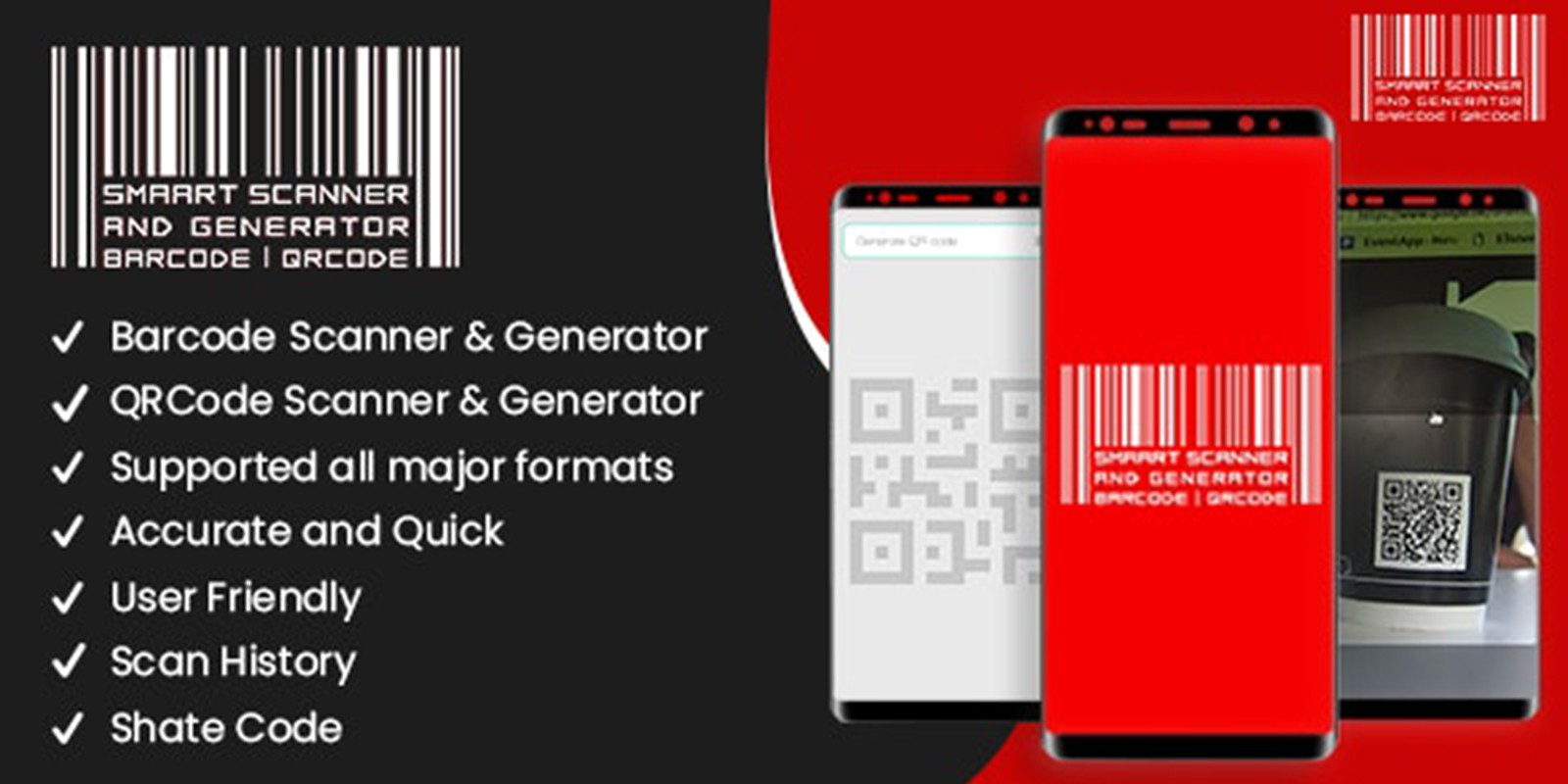 Smart Scanner and Generator Barcode Android