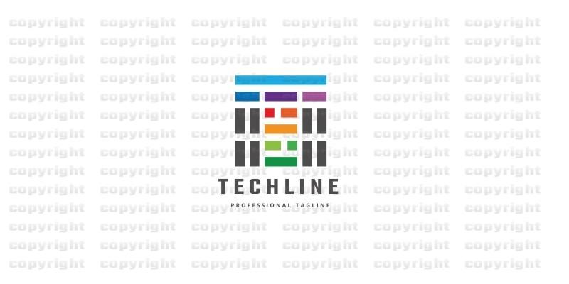 Tech Line Letter T Logo