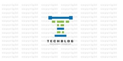 Technology Blog Letter T Logo