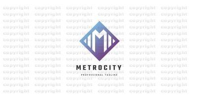 Metro City Letter M Logo