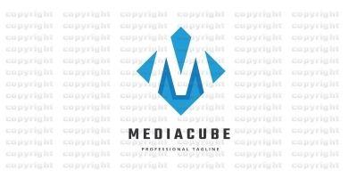 Media Cube Letter M Logo