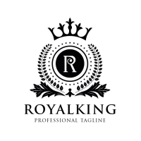 Royal King Letter R Logo