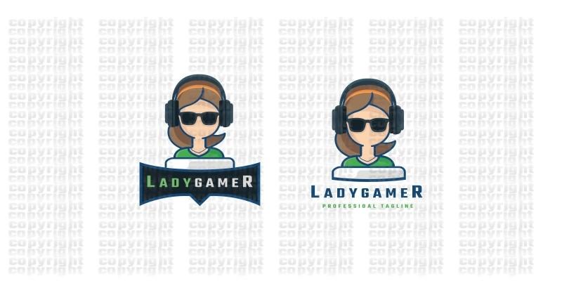 Lady Gamer Logo
