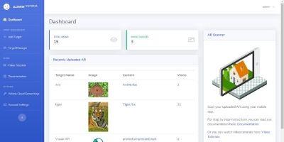 Vuforia Cloud Recognition Unity App With Web Panel