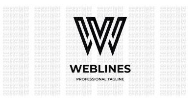 Web Lines Letter W Logo