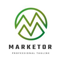 Market Round Letter M Logo
