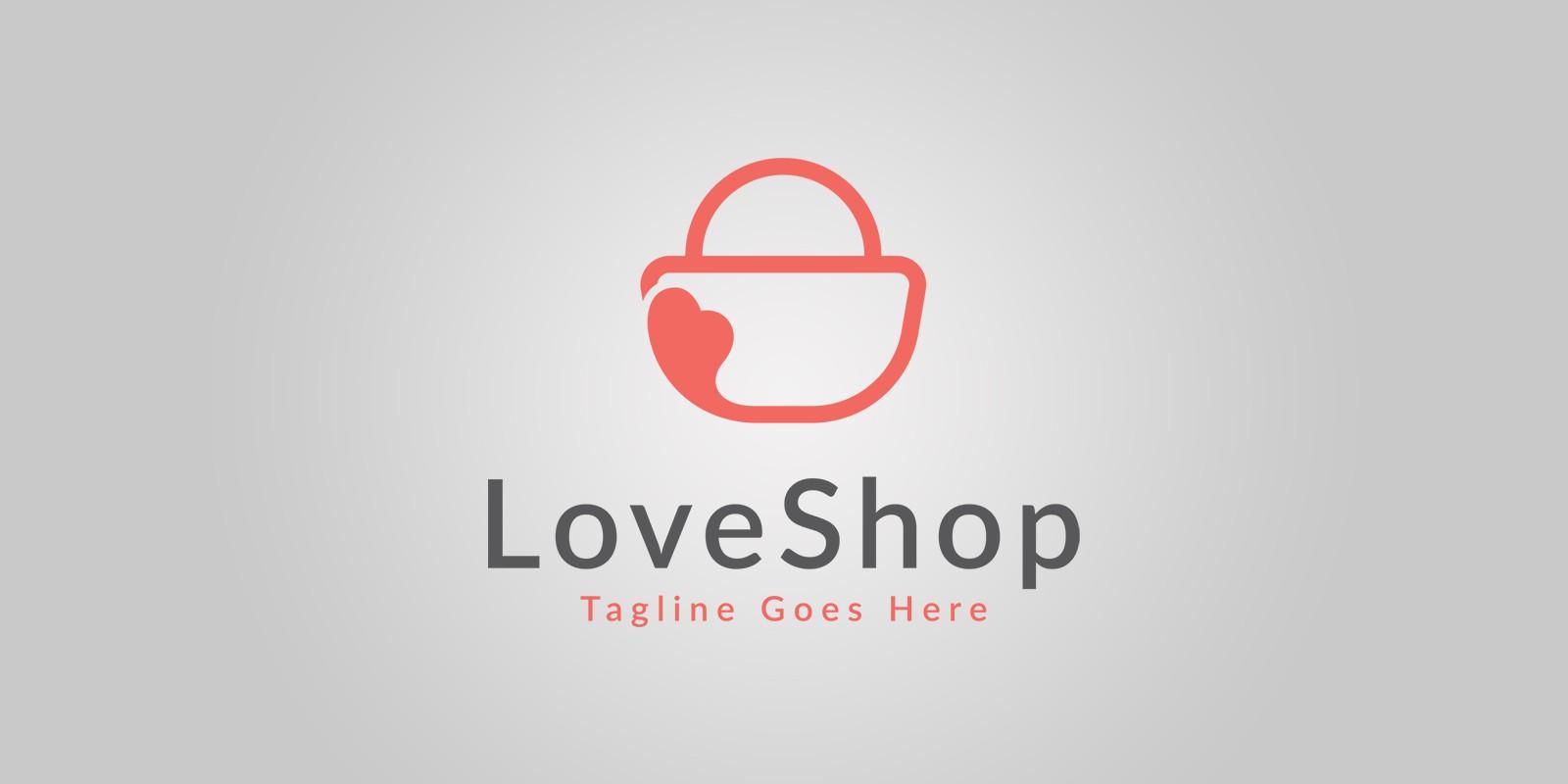 Love Shopping Logo Template