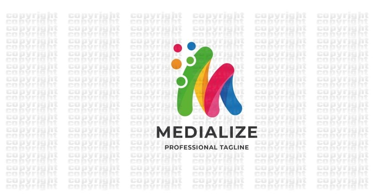 Media Letter M Logo
