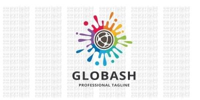 Global Colorful Splash Logo