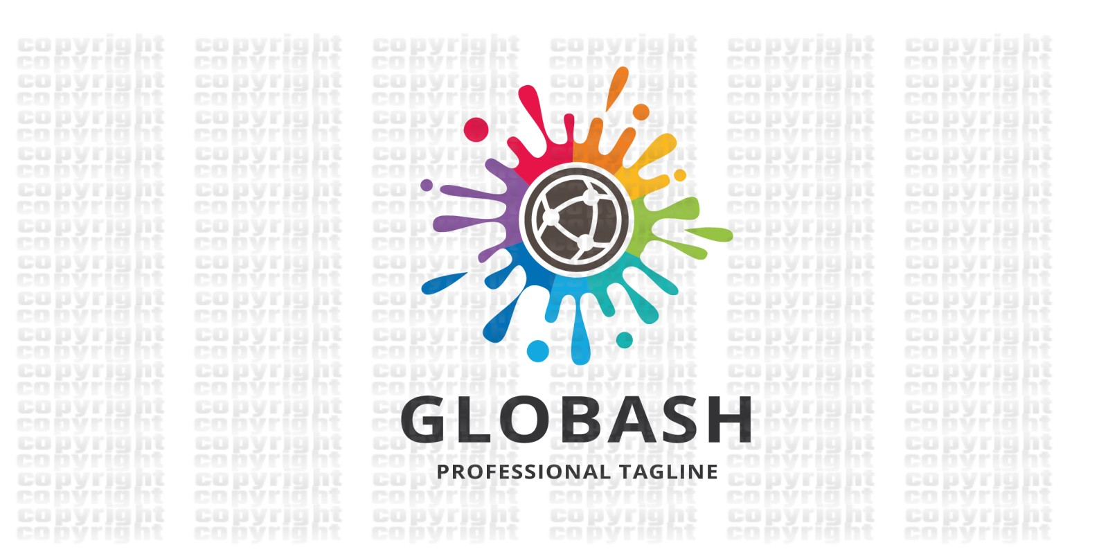 Global Colorful Splash Logo