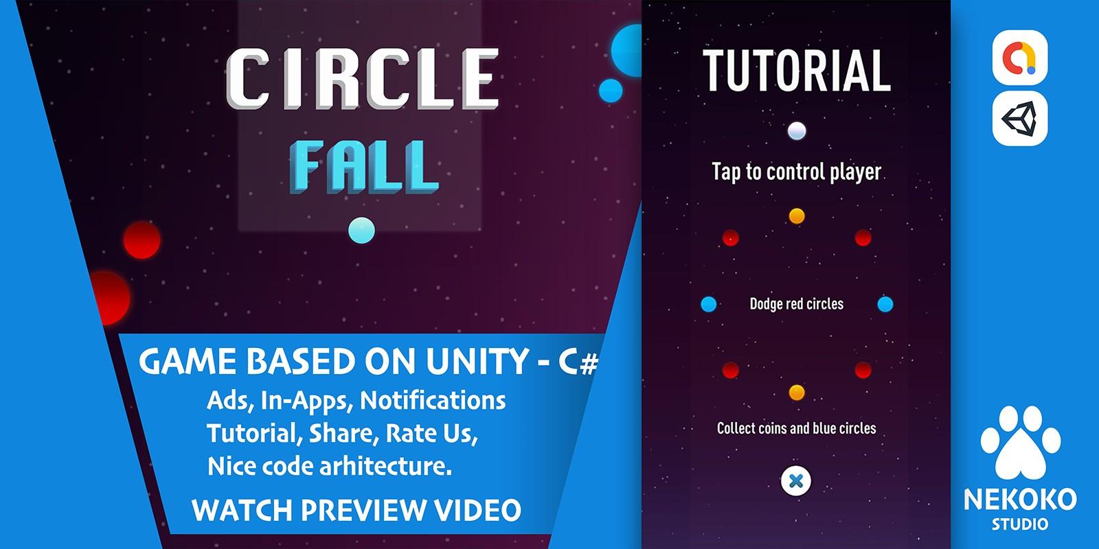 Circle Fall - Unity Source Code