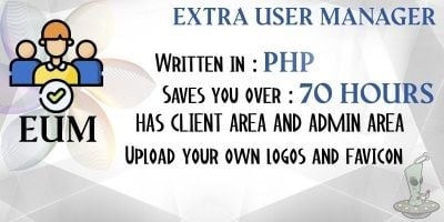 Extra User Manager PHP