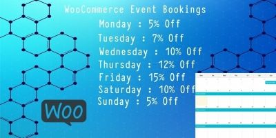 WooCommerce Event Bookings - Set Day Wise Sale