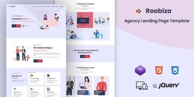 Roobiza - Agency Landing Page Template