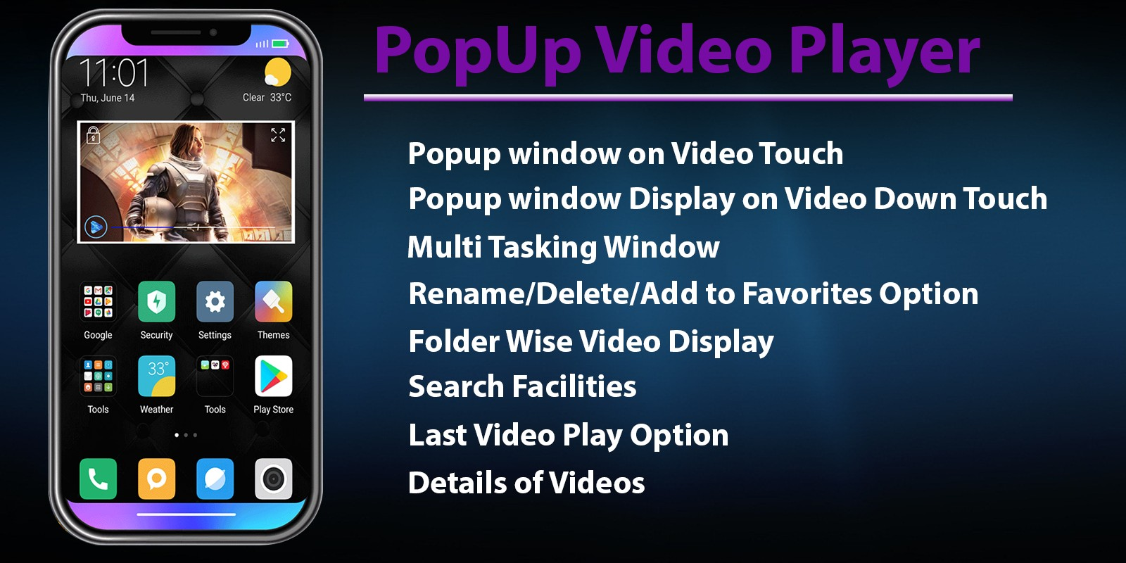 Popup Video Player - Android App Source Code