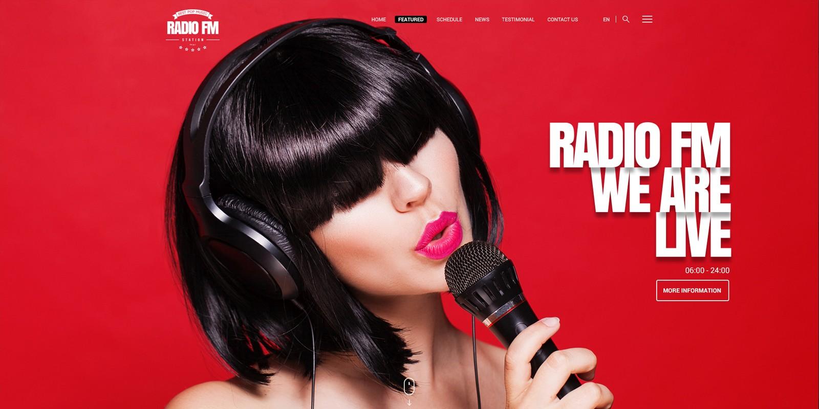 Radio FM - HTML Bootstrap Template