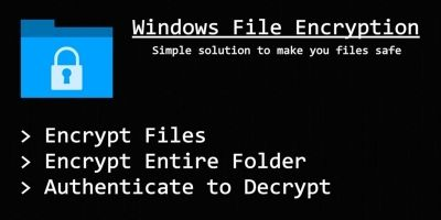 Windows File Encryption C#