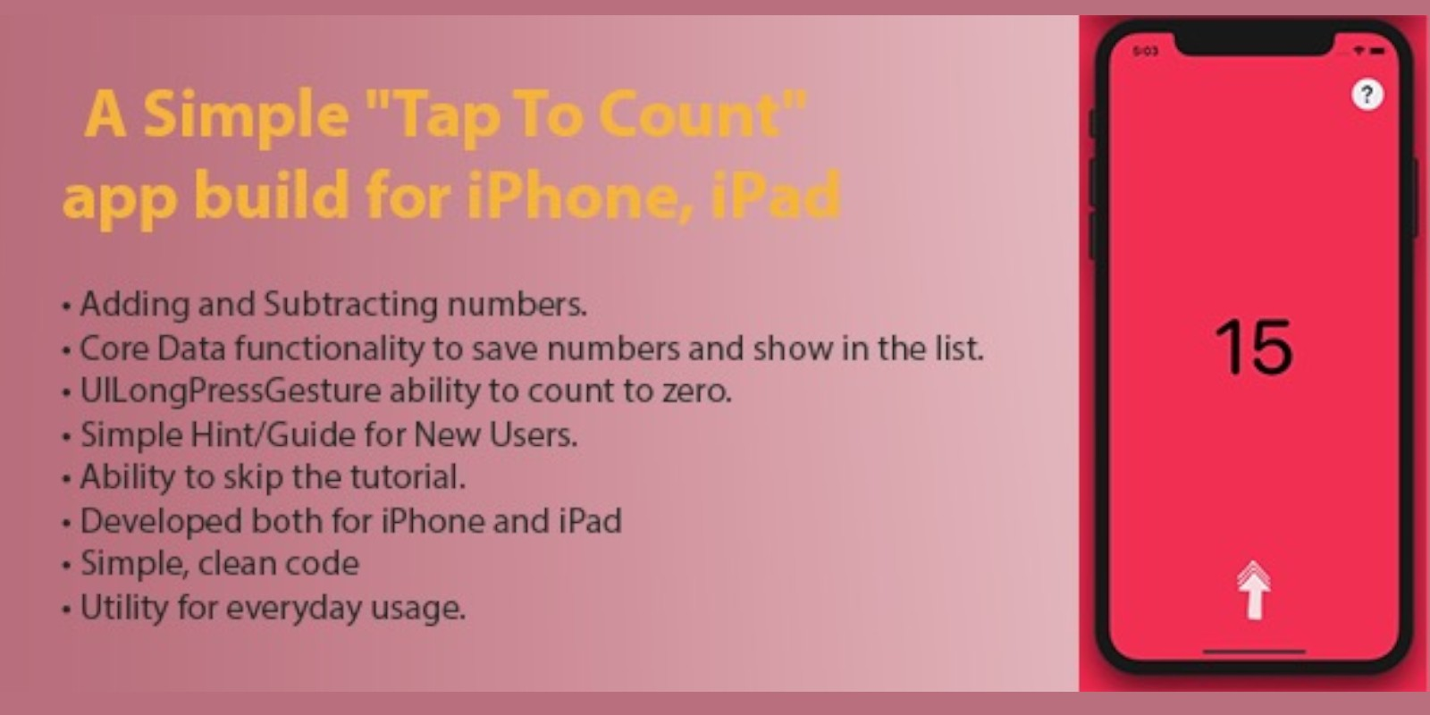 Tap To Count - iOS Source Code