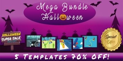 Casual Games Halloween Mega Unity Bundle