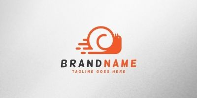 Speed Snail Logo Template