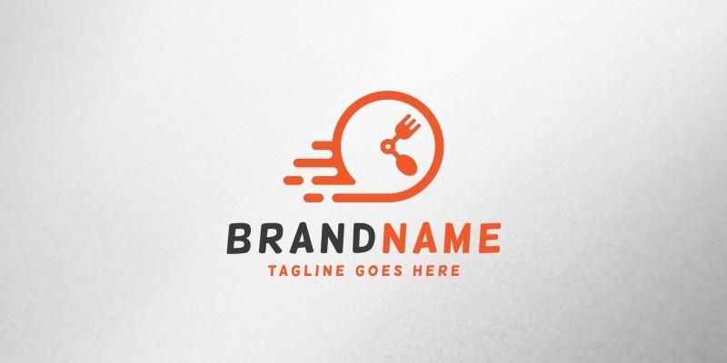 Fast Food Time Logo Template