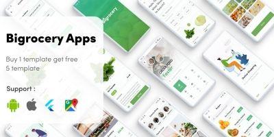 Flutter Grocery - Bigrocery In Flutter Grocery UI
