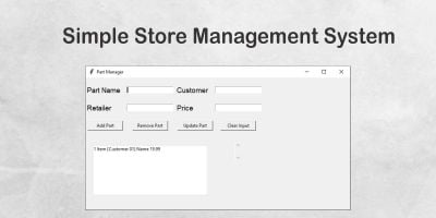 Simple Store Management System in Python using DB