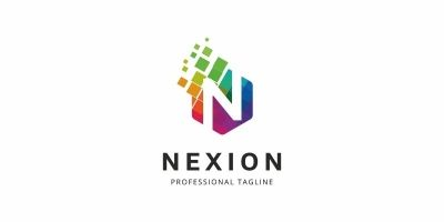 Colorful N Letter Logo