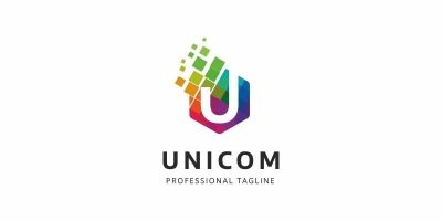 Colorful U Letter Logo
