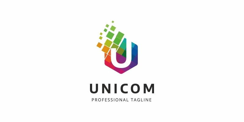Colorful U Letter Logo