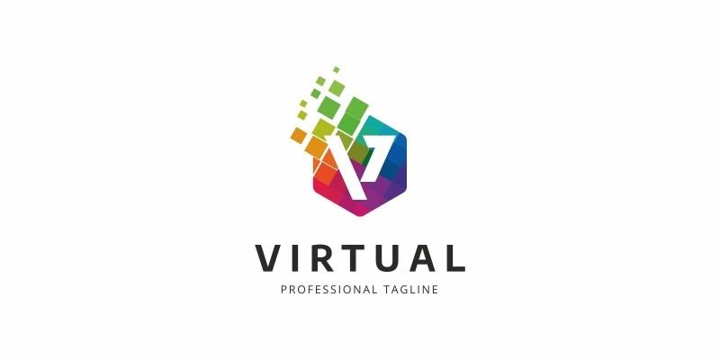 Colorful V Letter Logo