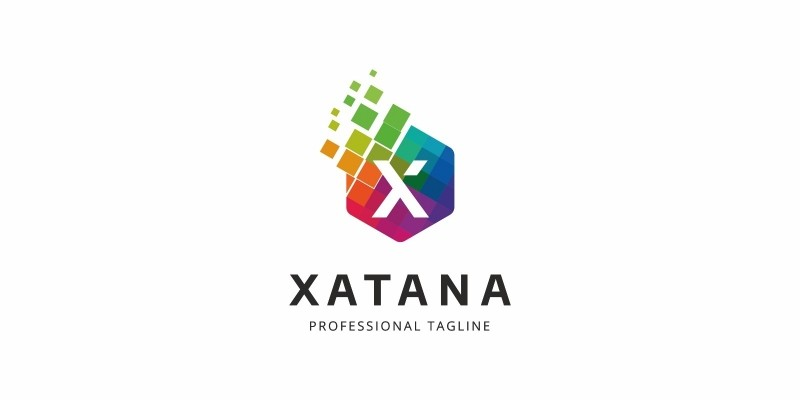 Colorful X Letter Logo