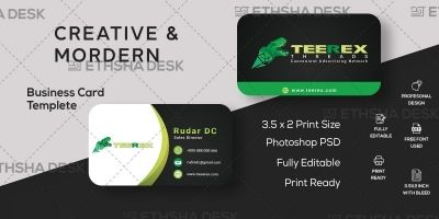 Clean And Simple Business Card Design