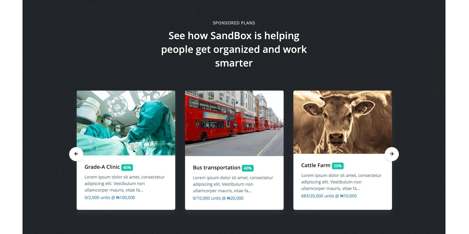 Sandbox - Project Investment Platform