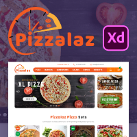 Pizzalaz - Fast Food And Restaurant XD Template