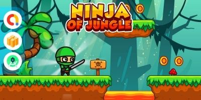 Ninja of Jungle - Full Buildbox Game