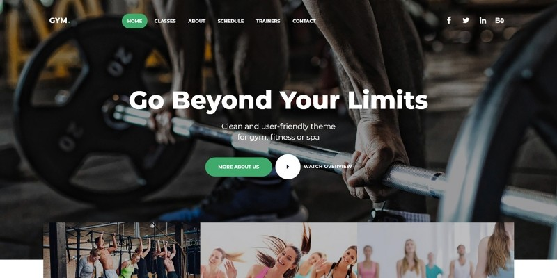 GYM - Fitness Landing Page