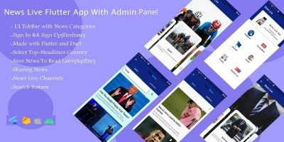 News Live Flutter App With Admin Panel