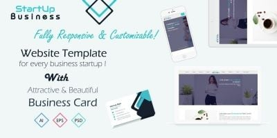 StartUp Business - Responsive Website Template