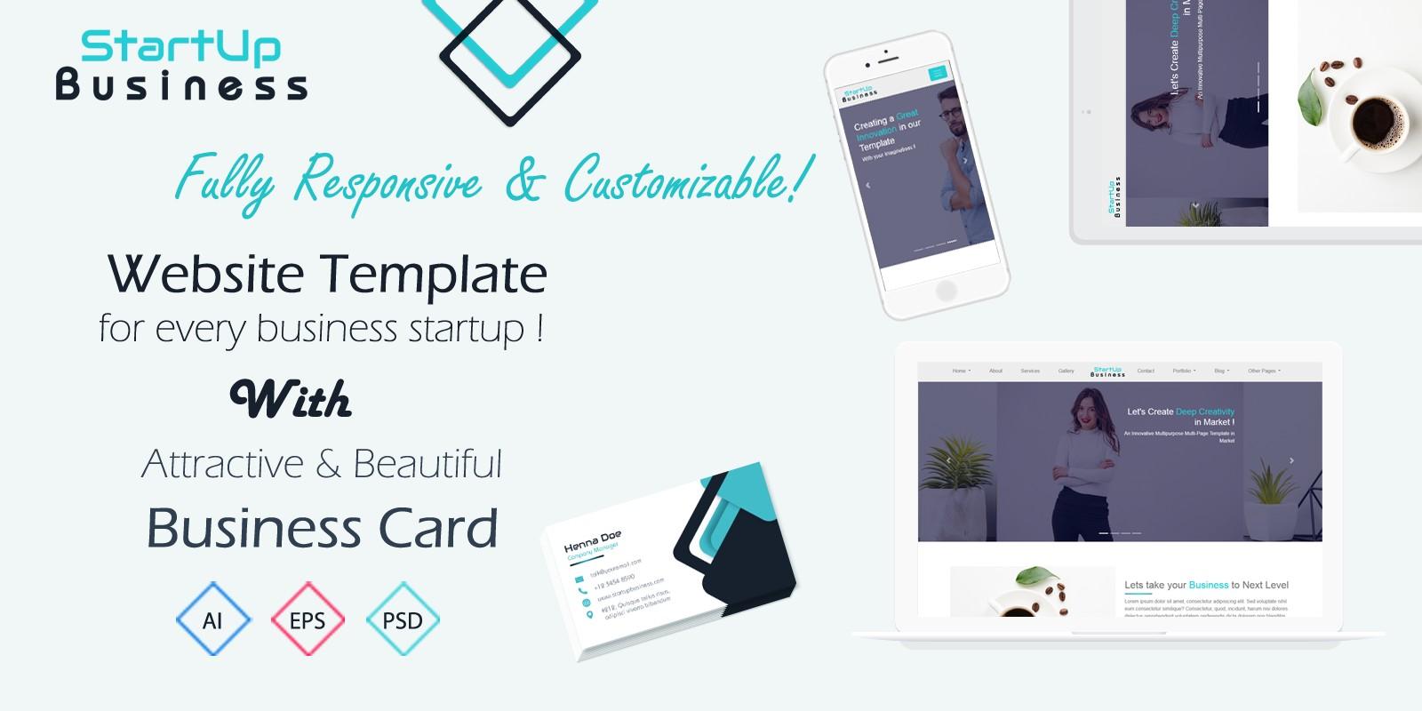 StartUp Business - Responsive Website Template