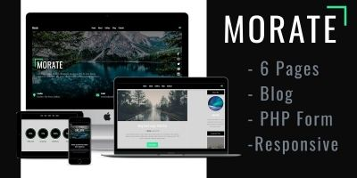 Morate - Blog Web Template
