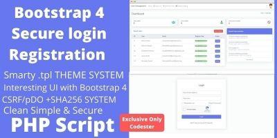 Secure Login Registration And User Management