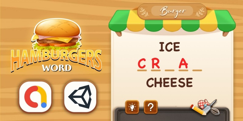 Hamburger Word - Unity Project With Editor