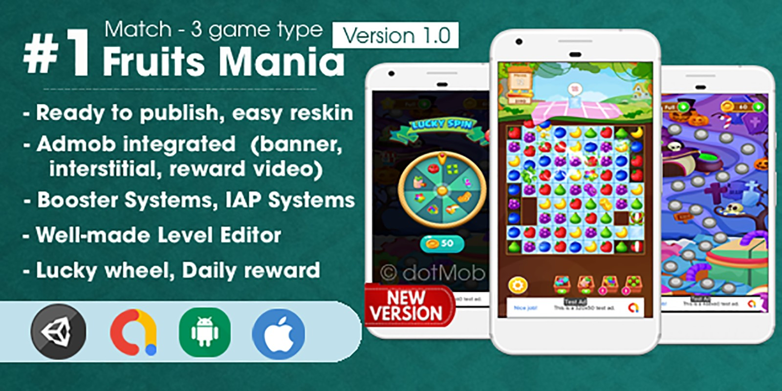 Fruits Mania - Unity Template Project